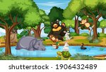 wild animals in the jungle... | Shutterstock .eps vector #1906432489