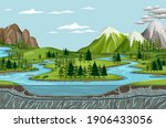 bird's eye view with nature... | Shutterstock .eps vector #1906433056