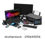 group of office equipment.... | Shutterstock . vector #190644056