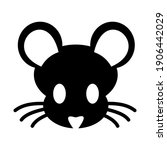 mouse face icon isolated vector ... | Shutterstock .eps vector #1906442029