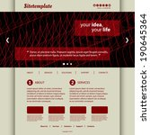 website template with abstract... | Shutterstock .eps vector #190645364