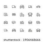 icon set of car. editable... | Shutterstock .eps vector #1906468666