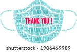 thank you word cloud on a white ... | Shutterstock .eps vector #1906469989
