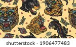 tigers and black panthers...   Shutterstock .eps vector #1906477483