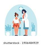 modern epidemics. doctor in a... | Shutterstock .eps vector #1906484929