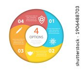 covid 19 circle infographic....   Shutterstock .eps vector #1906488703