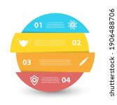 covid 19 circle infographic....   Shutterstock .eps vector #1906488706