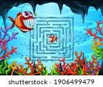 Maze Game In The Underwater...