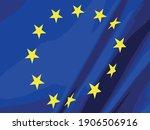 close up european union flag | Shutterstock .eps vector #1906506916