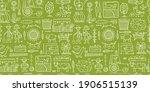 organic farm seamless pattern... | Shutterstock .eps vector #1906515139