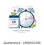 daylight saving time banner.... | Shutterstock .eps vector #1906521250