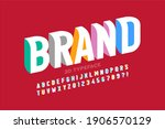 3d style modern font design ... | Shutterstock .eps vector #1906570129