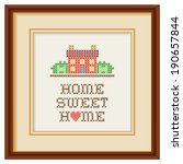 home sweet home embroidery with