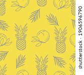 seamless pattern with... | Shutterstock .eps vector #1906596790