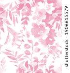 monochrome floral seamless... | Shutterstock . vector #1906615579
