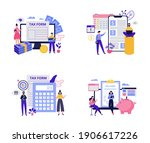 set concepts for tax consultant ... | Shutterstock .eps vector #1906617226