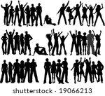 huge set of crowds of people | Shutterstock .eps vector #19066213