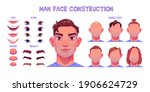 man face constructor  avatar of ... | Shutterstock .eps vector #1906624729