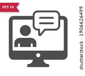 monitor with user avatar and...   Shutterstock .eps vector #1906626499