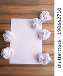 Sheet Of White Paper With...