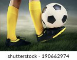 foot playing soccer ball... | Shutterstock . vector #190662974
