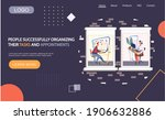 people successfully organizing...   Shutterstock .eps vector #1906632886