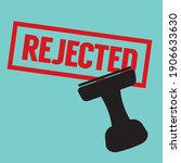 stamp rejected in red text... | Shutterstock .eps vector #1906633630