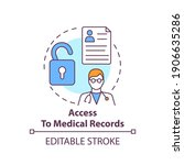 access to medical records...   Shutterstock .eps vector #1906635286