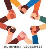 teamwork concept   joined... | Shutterstock .eps vector #1906639513