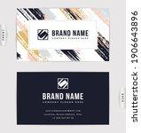 business card design. vector... | Shutterstock .eps vector #1906643896