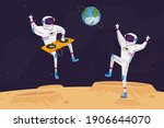 disco party on alien planet or... | Shutterstock .eps vector #1906644070