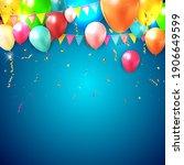 realistic 3d balloon background ... | Shutterstock .eps vector #1906649599