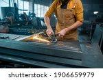 Metal Industry Worker Dressed...