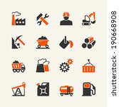 industry web icon set | Shutterstock .eps vector #190668908