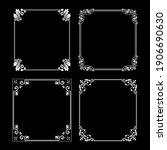set of decorative frames...   Shutterstock .eps vector #1906690630