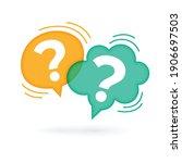 Question Mark Speech Bubble On...