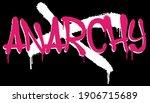 urban neon graffiti anarchy... | Shutterstock .eps vector #1906715689