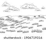 hills graphic black white... | Shutterstock .eps vector #1906719316