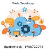 software developer concept....   Shutterstock .eps vector #1906722046