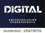 digital urban alphabet  bold... | Shutterstock .eps vector #1906738756