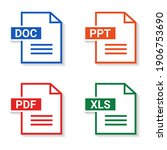 set of file type. format and...   Shutterstock .eps vector #1906753690