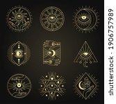 occult emblems. meditation...   Shutterstock .eps vector #1906757989