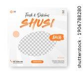 food menu banner social media... | Shutterstock .eps vector #1906788280