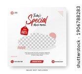 food menu banner social media... | Shutterstock .eps vector #1906788283