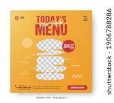 food menu banner social media... | Shutterstock .eps vector #1906788286