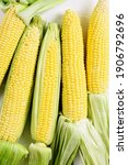 Close Up View Of Corn On The...
