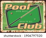 Pool Club Rusty Metal Plate ...