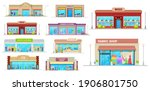 store and shop buildings... | Shutterstock .eps vector #1906801750