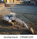 view of white excavator on the... | Shutterstock . vector #190681100