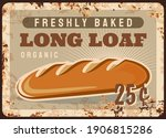 Long Loaf Rusty Metal Plate ...